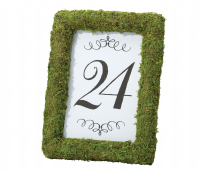 Green Moss Table Number Photo Frame 4 x 6